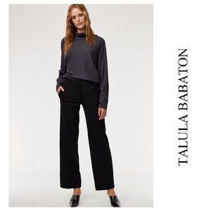 Talula Babaton Wide Leg Malcolm Black Dress Pants